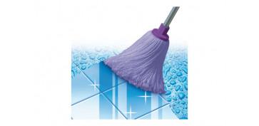 Utiles de limpieza - FREGONA MICROFIBRA LILA 168GR - 22CM