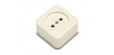 Material instalacion electrico - BASE ENCHUFE BIPOLAR 10-16A PORCELANA
