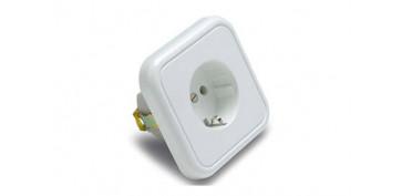Material instalacion electrico - BASE ENCHUFE BIPOLAR TT.LT 10-16A BLANCO PORCELANA