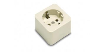 Material instalacion electrico - BASE ENCHUFE BIPOLAR TT.LT 10-16A PORCELANA
