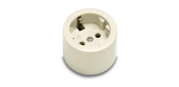 Material instalacion electrico - BASE ENCHUFAR BIPOLAR TT.LT 10-16A BLANCO PORCELANA