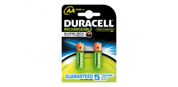 Pilas y baterías - PILA RECARGABLE DURACELL DURALOCK AA (LR06) B2