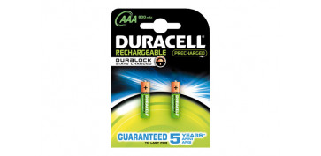 Pilas y baterías - PILA RECARGABLE DURACELL DURABLOCK AAA (LR03) BL2
