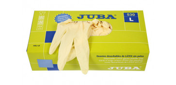 Guantes - GUANTE LATEX DESECHABLE SIN POLVO T.S 100 UDS