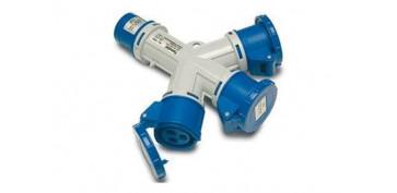 Material instalacion electrico - ADAPTADOR INDUSTRIAL 3 TOMAS IP44