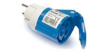 Material instalacion electrico - ADAPTADOR INDUSTRIAL IP44 M2P+BASE2P+T