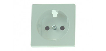 TAPA BASE ENCHUFE 2P+TT BLANCO SERIE 82
