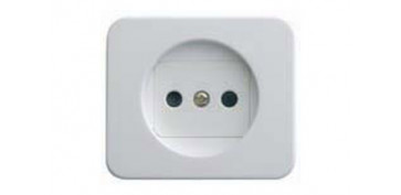 TAPA BASE ENCHUFE 2P BLANCO SERIE 75
