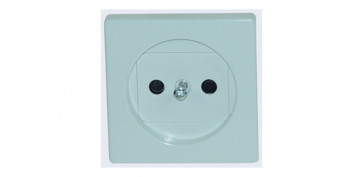 TAPA BASE ENCHUFE 2P BLANCO SERIE 82
