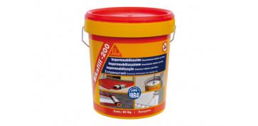 Masillas y siliconas - IMPERMEABILIZANTE SIKAFILL 200 FIBRAS 5 KG GRIS