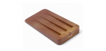 Topes y perchas adhesivas - CUÑA PLASTICO COLOR MADERA 2UND 50X30X7 MM