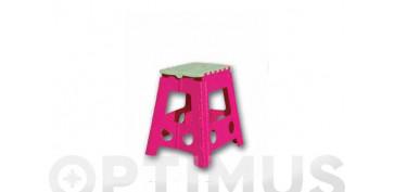 Escaleras - TABURETE PLEGABLE PLASTICO 23X34X27 CM TB1 COLORES SURTIDOS