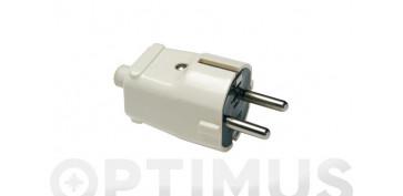 Material instalacion electrico - CLAVIJA BIPOLAR 10/16A 250V 1101-4,8MM BL