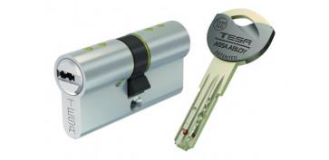 Cerraduras - CILINDRO TX80 NIQUEL LLAVE PUNTOS35-35