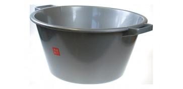 Utiles de limpieza - BARREÑO 12 LITROS PLASTICO Ø 35 X 19- COLOR PLATA