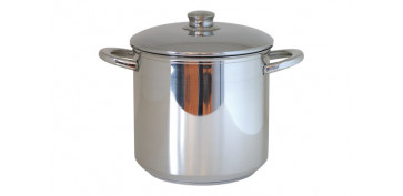 Coccion - OLLA ALTA METALICA INDUCCION 24CM-10L