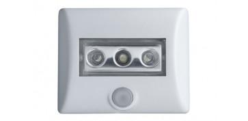 Iluminacion vivienda - LUZ LED SEGURIDAD CON SENSOR 86X32 MM