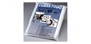 Utiles para pintar - PLASTICO CUBRETODO FINO 4 MT X 5MT 7 MICRAS