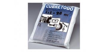 Utiles para pintar - PLASTICO CUBRETODO GRUESO 4 MT X 5 MT 40 MICRAS