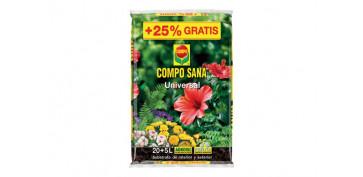 Plantas y cuidado de las plantas - SUBSTRATO UNIVERSAL COMPO SANA 20+5L GRATIS