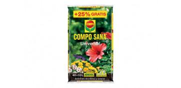 Plantas y cuidado de las plantas - SUBSTRATO UNIVERSAL COMPO SANA 40+10L GRATIS