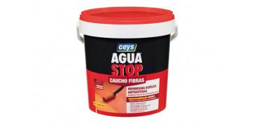 Masillas y siliconas - AGUA STOP CAUCHO ACRILICO FIBRAS 5 KG GRIS