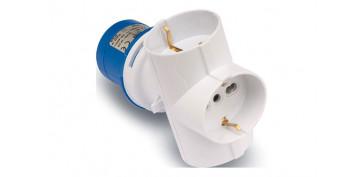 Material instalacion electrico - ADAPTADOR INDUSTRIAL IP44 2P+T 3BASE 2P