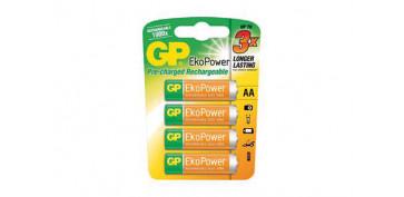Pilas y baterías - PILA RECARGABLE GP EKO POWER AA-BL4