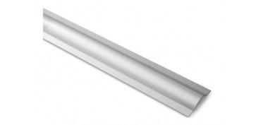 Burletes y tapajuntas - PERFIL CUBRE CABLE ACABADO INOXIDABLE 100CM X 53MM