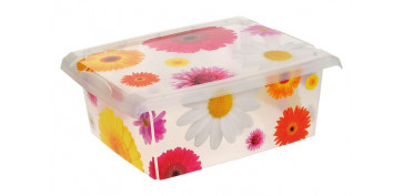 CAJA FASHION BOX PINK FLOWERS 10L-2707.99D