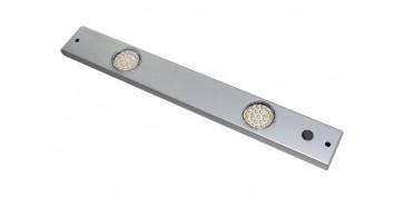 Iluminacion vivienda - REGLETA LED ALUMINIO 2 X 1,5W