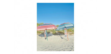 Camping, playa y aire libre - PARASOL - SOMBRILLA PLAYA PLEGABLE MINI 180CM COLORES SURTIDOS UPF50+