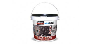 Masillas y siliconas - SILICONA LIQUIDA AQUABLOCK SL3000 1 KG NEGRO