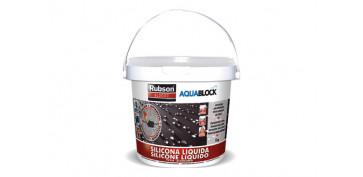 Masillas y siliconas - SILICONA LIQUIDA AQUABLOCK SL3000 1 KG BLANCO