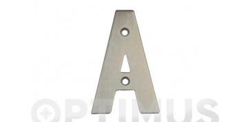 Señalizacion - PLACA 4 INOX 18/8 AMIG (BL)LETRA E