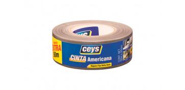 Adhesivos - CINTA AMERICANA TACKCEYS50 MM X 50 M PLATA