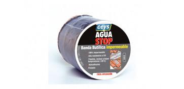 Masillas y siliconas - AGUA STOP BANDA IMPERMEABLE BUTILO 10M 15CM GRIS