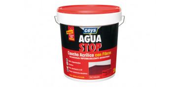 Masillas y siliconas - AGUA STOP CAUCHO ACRILICO FIBRAS 20KG GRIS
