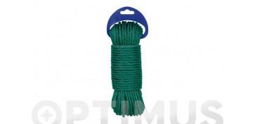 Cuerdas y cintas - CUERDA PE CABLEADA 4C 5MM 25 MT VERDE