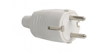 Material instalacion electrico - CLAVIJA GOMA 10/106A230V BLANCO