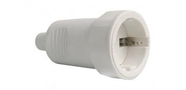 Material instalacion electrico - BASE GOMA 10/16A230V BLANCO