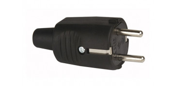 Material instalacion electrico - CLAVIJA GOMA 16A230V NEGRO