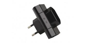 Material instalacion electrico - ADAPTADOR 3 TOMAS 10ANEGRO 250V
