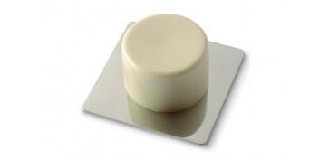 Topes y perchas adhesivas - TOPE DE PUERTA ADHESIVOACERO INOX/PVC BEIGE 2 UDS