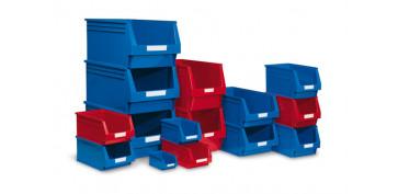 Portaherramientas - GAVETA APILABLE PLASTICO N.53 ROJA 336 X 160 X 130 MM. 4,8 LITROS