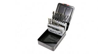 Juegos y kits para herramientas - BROCAS PARA METAL HSS PRO, 19 PIEZAS Ø DE 1 A 10 MM. DE ½ EN ½ MM.