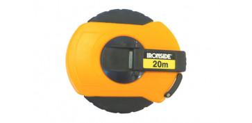 Medidores de distancias - CINTA METRICA FIBRA DE VIDRIO 20 M. X 15 MM. ESTUCHE BI MATERIAL CON MANIVELA DE RECOGIDA