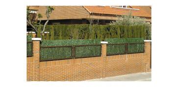 Cercado y ocultacion jardin - SETO ARTIFICIAL HOJA FINA 126 VARILLAS 1,0X5M VERDE