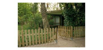 Cercado y ocultacion jardin - PUERTA VALLA CLASICA MADERA (ACABADO RAYADO) 100X100 CM