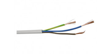 Cables - CABLE MANGUERA REDONDA BLANCO 3X1,5 20MT